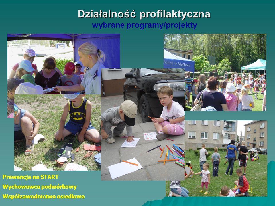 Działalność profilaktyczna Działalność profilaktyczna wybrane programy/projekty Bezpieczna droga do szkoły/domu Słońce na drodze - odblaski ratują życ
