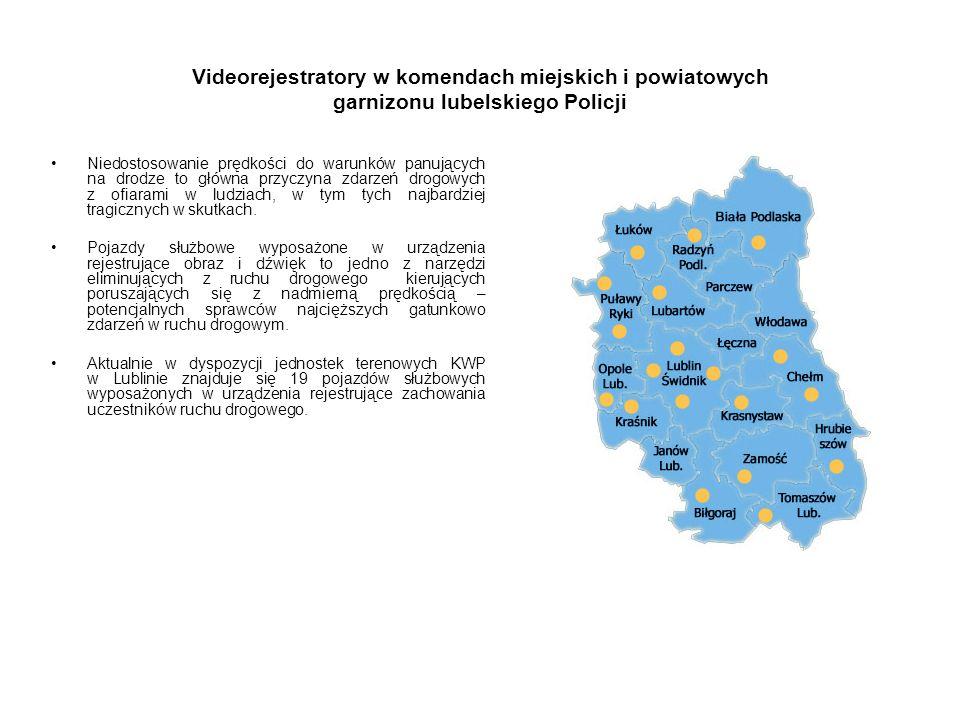 Videorejestratory w komendach miejskich i powiatowych garnizonu lubelskiego Policji Niedostosowanie prędkości do warunków panujących na drodze to głów