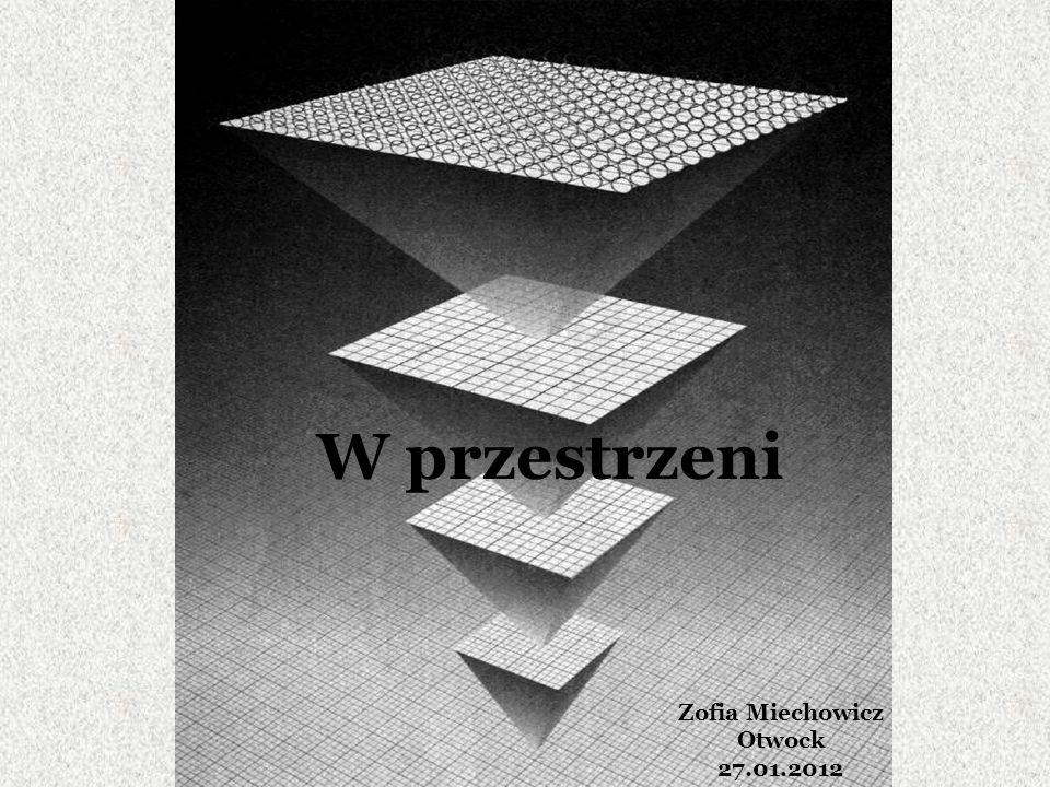 W przestrzeni Zofia Miechowicz Otwock 27.01.2012