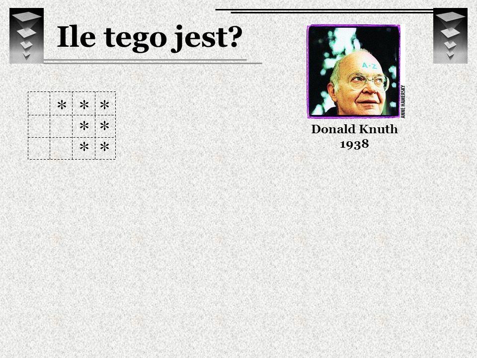 Ile tego jest? Donald Knuth 1938