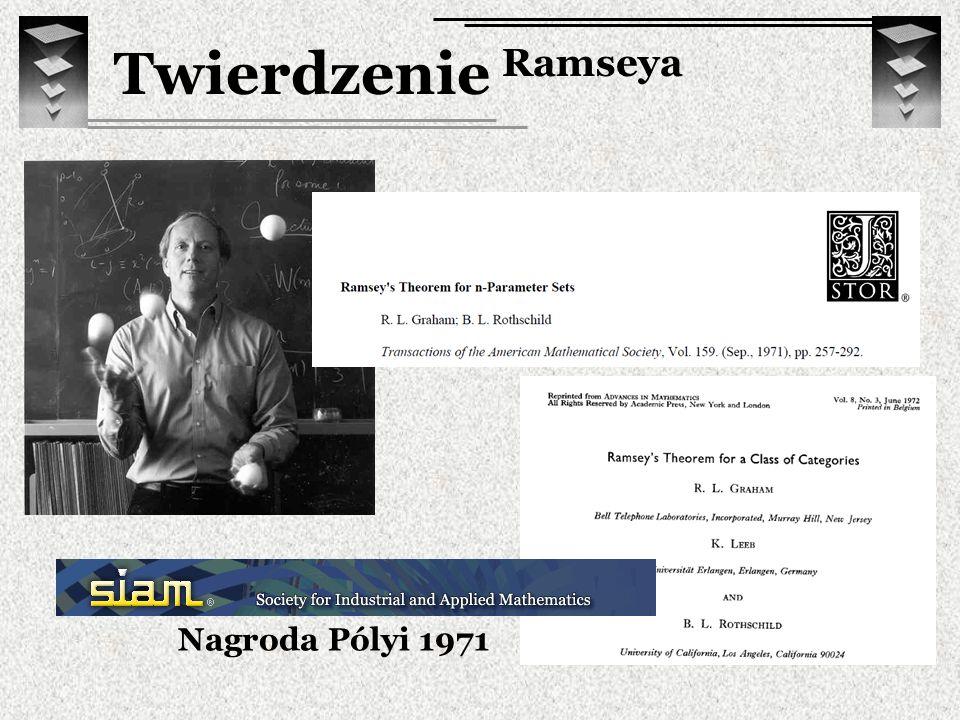 Nagroda Pólyi 1971 Twierdzenie Ramseya