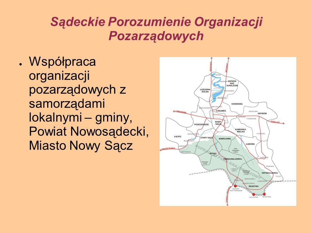 Sądeckie Porozumienie Organizacji Pozarządowych Profesjonalizacja działalności sądeckich organizacji pozarządowych