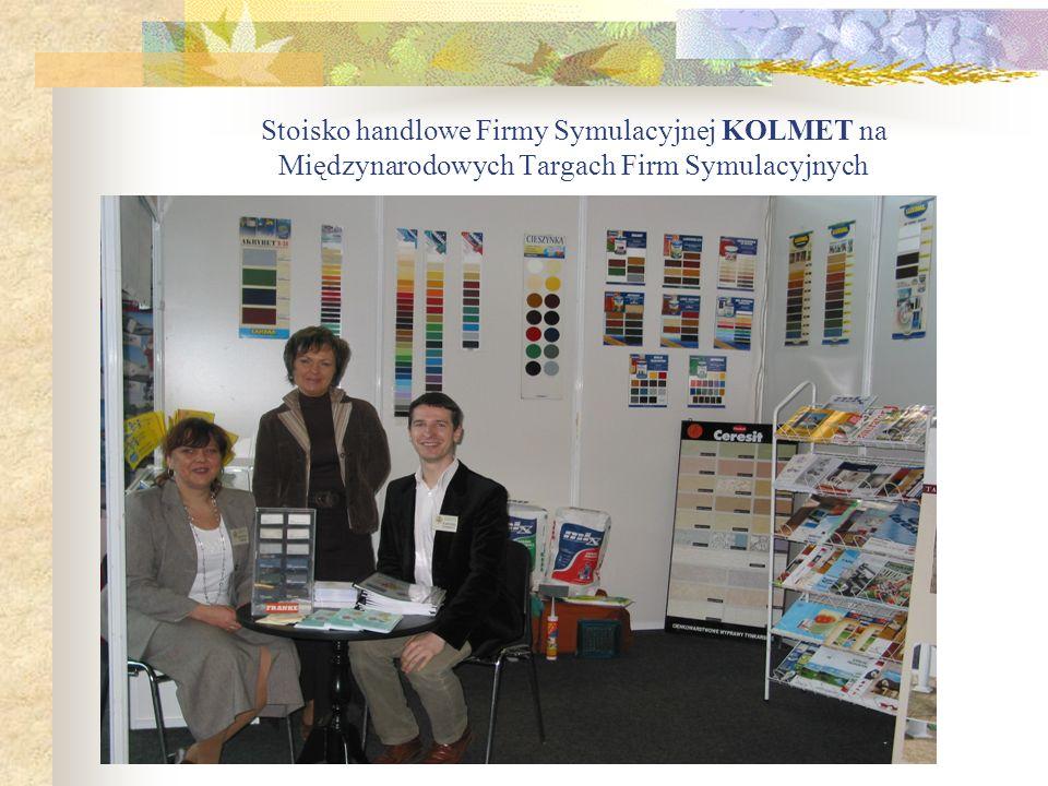 Stoisko handlowe Firmy Symulacyjnej KOLMET na Międzynarodowych Targach Firm Symulacyjnych