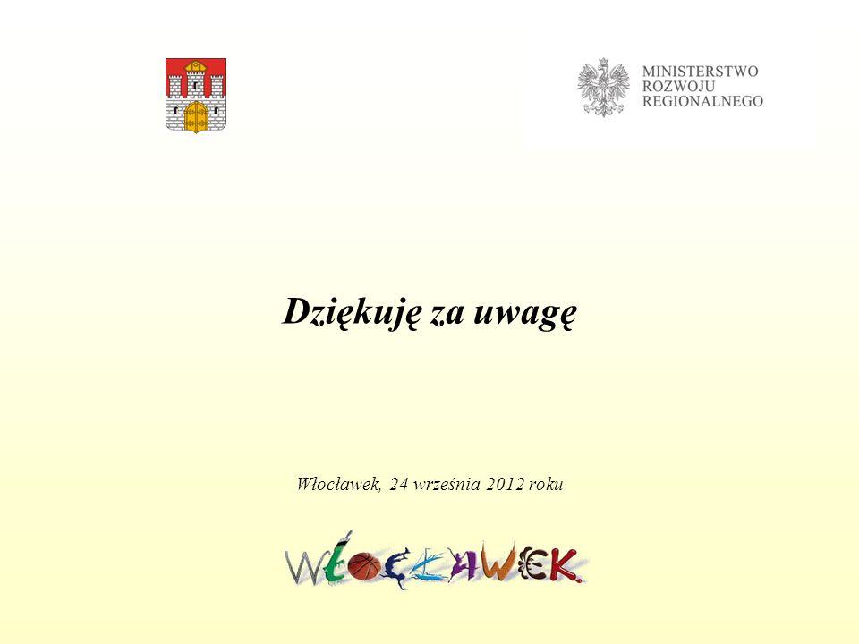 Dziękuję za uwagę Włocławek, 24 września 2012 roku