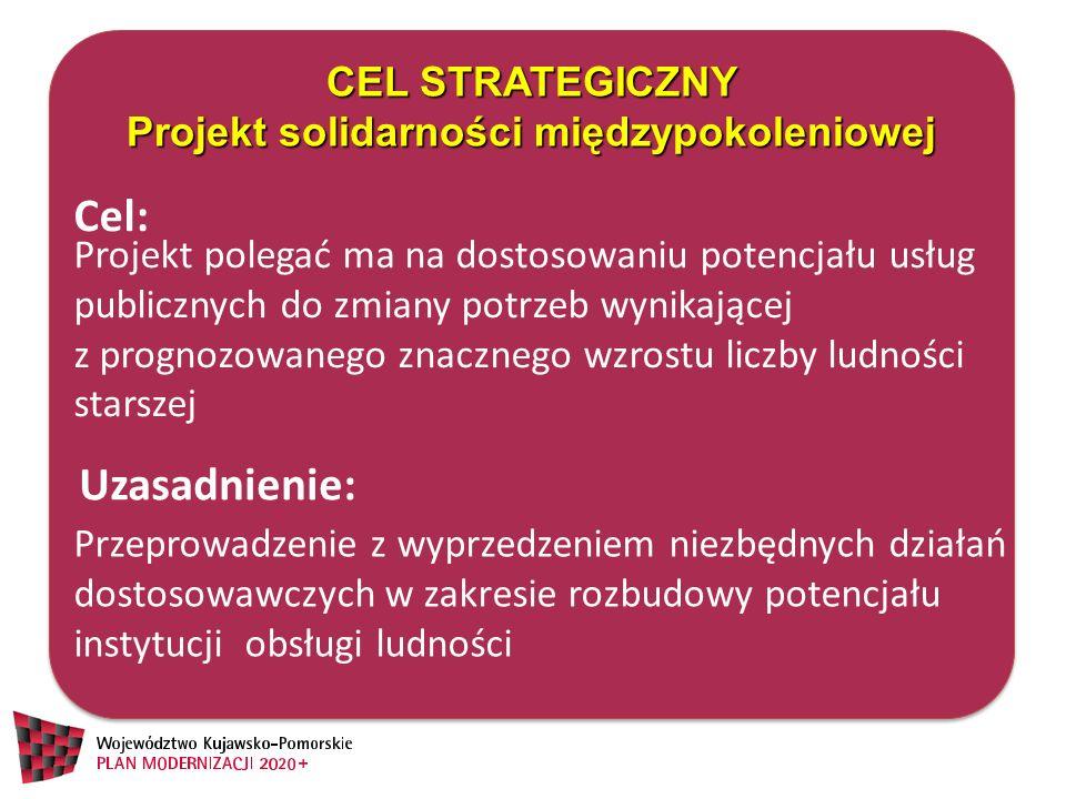 CEL STRATEGICZNY Projekt solidarności międzypokoleniowej CEL STRATEGICZNY Projekt solidarności międzypokoleniowej Projekt polegać ma na dostosowaniu p