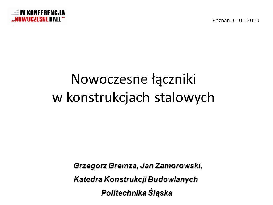 Poznań 30.01.2013 Aby zapewnić szczelność połączeń stosuje się wkręty z poszerzonym łbem z podkładką z gumy neoprenowej.