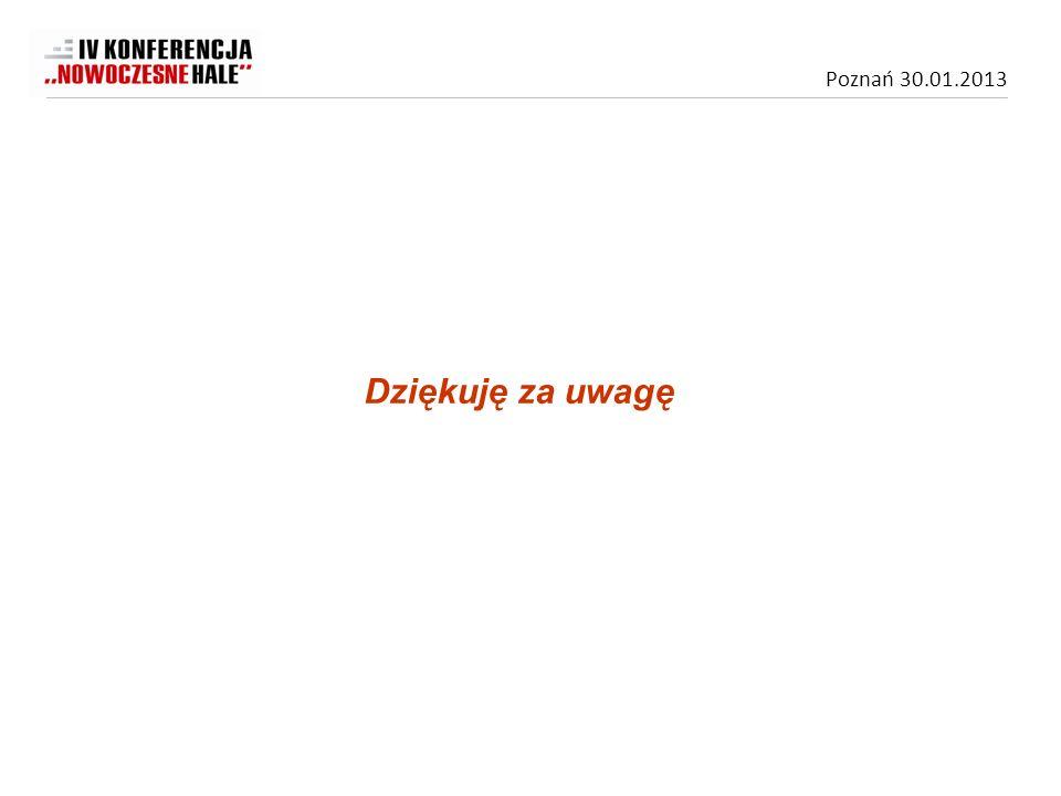 Poznań 30.01.2013 Dziękuję za uwagę