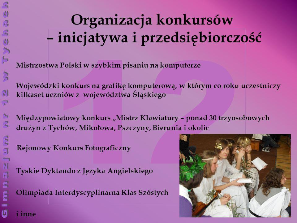 12 Organizacja konkursów – inicjatywa i przedsiębiorczość Wojewódzki konkurs na grafikę komputerową, w którym co roku uczestniczy kilkaset uczniów z w