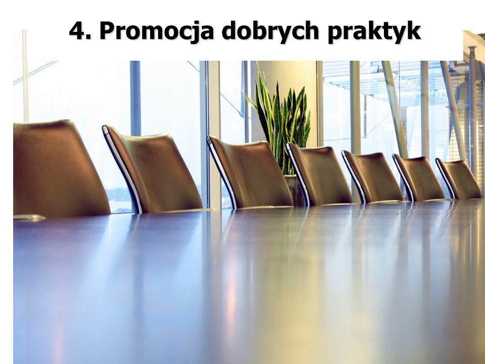 4. Promocja dobrych praktyk 4. Promocja dobrych praktyk