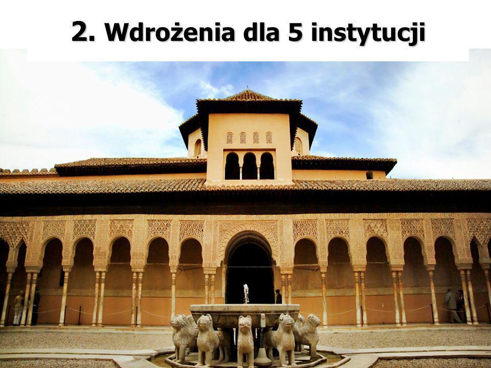 2. Wdrożenia dla 5 instytucji 2. Wdrożenia dla 5 instytucji