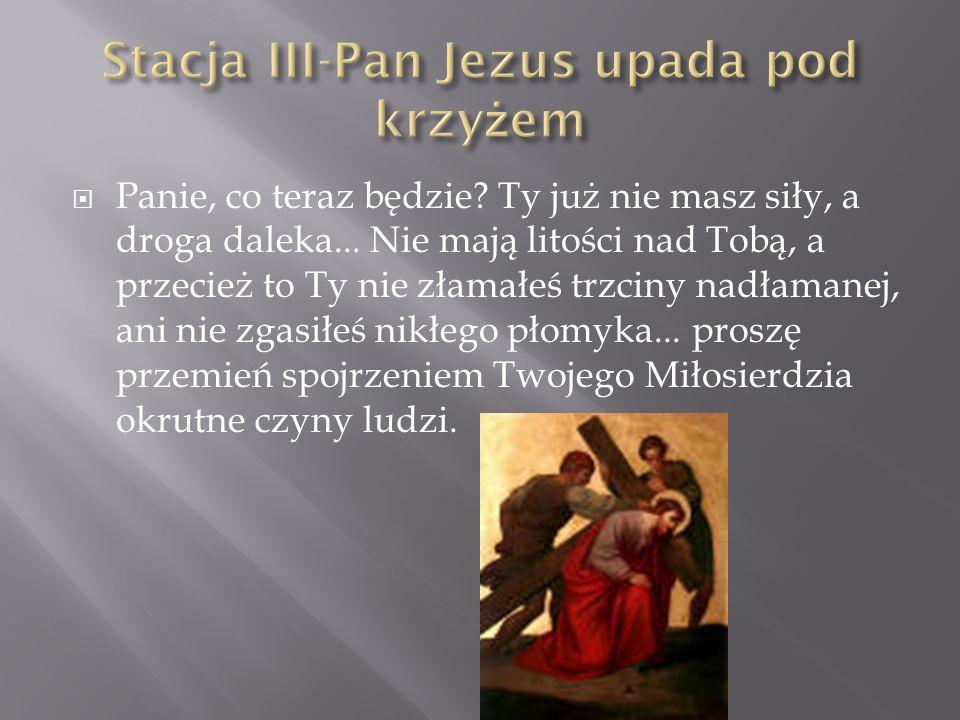 Złożono Twoje Ciało do grobu Jezu, a Ty po trzech dniach Zmartwychwstaniesz, by jeszcze hojniej wylewać na nas Twoje Miłosierdzie.