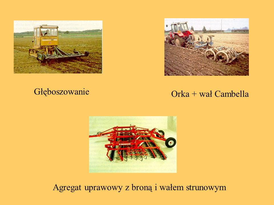 Głęboszowanie Orka + wał Cambella Agregat uprawowy z broną i wałem strunowym