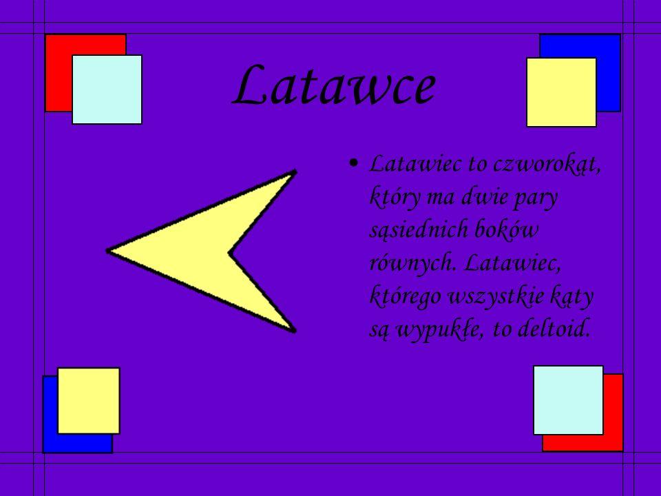 Trapezoidy Trapezoid to czworokąt, który nie ma żadnej pary boków równoległych i równych.