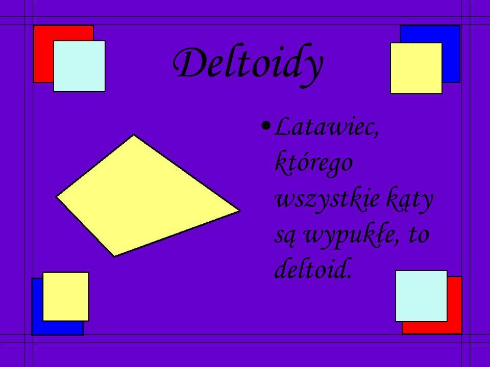 Latawce Latawiec to czworokąt, który ma dwie pary sąsiednich boków równych.