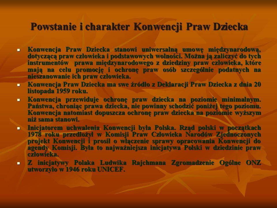 Powstanie i charakter Konwencji Praw Dziecka W latach 1918-1939 w Polsce wykształciła się współczesna koncepcja dzieciństwa.