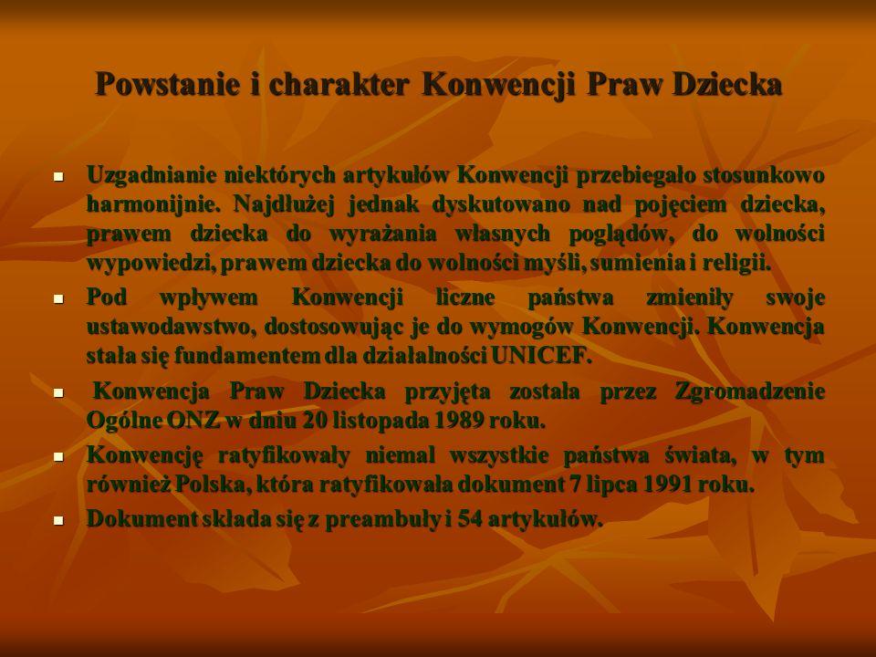 Dziecko – główny bohater Konwencji Spojrzenie Janusza Korczaka Człowiekiem, który najwcześniej i najpełniej podniósł kwestię praw dziecka był Janusz Korczak.