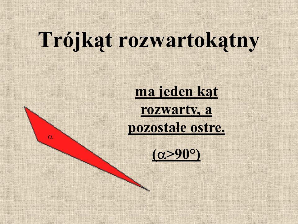 przyprostokątna przeciwprostokątna ma jeden kąt prosty i dwa kąty ostre. Trójkąt prostokątny