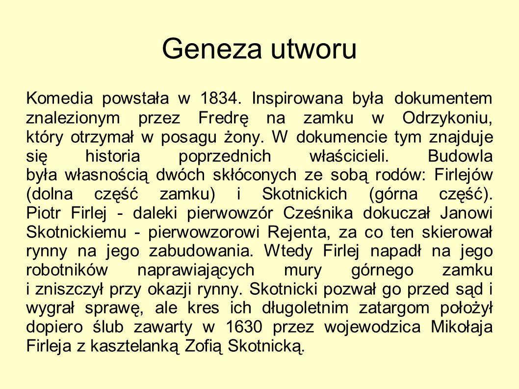 Geneza utworu Komedia powstała w 1834.