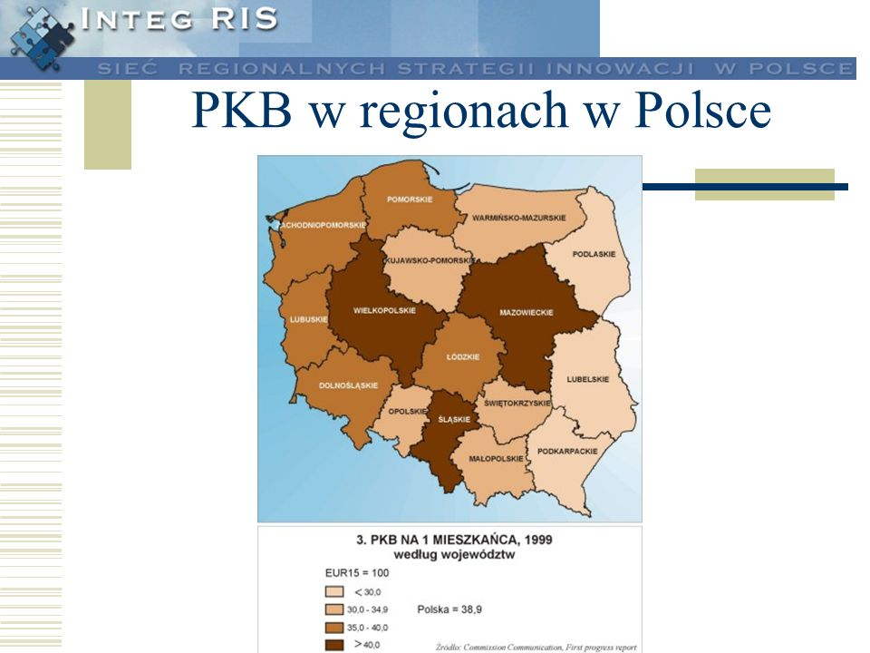 PKB w regionach w Polsce