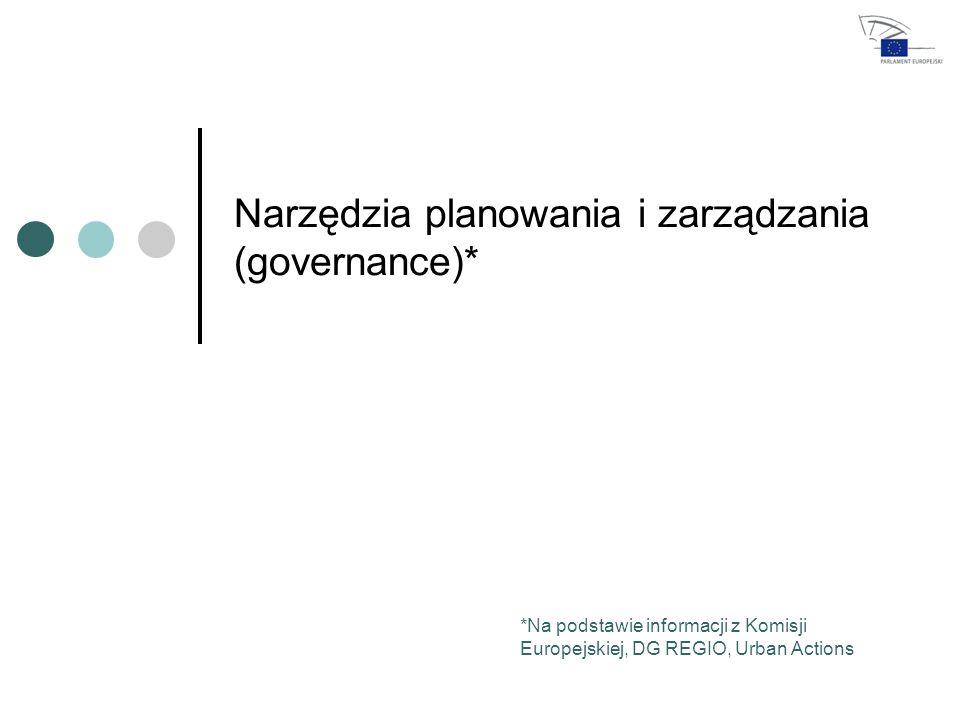 Narzędzia planowania i zarządzania (governance)* *Na podstawie informacji z Komisji Europejskiej, DG REGIO, Urban Actions