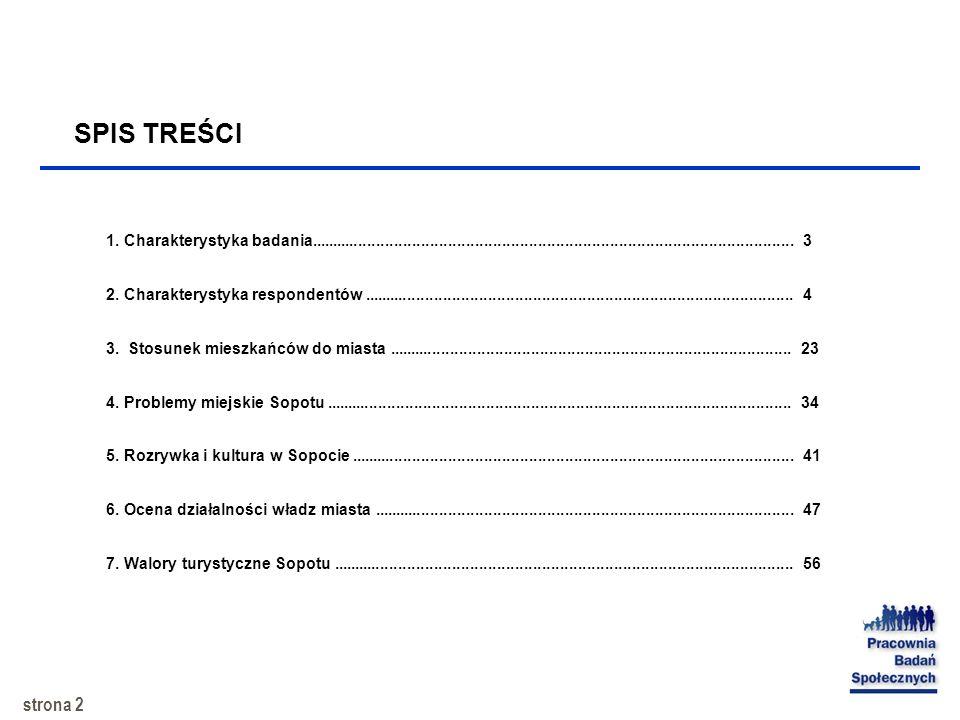 1 Raport z badania Sopot – problematyka miasta i jego funkcjonowanie Badanie wykonane na zlecenie Gminy – Zarządu Miasta Sopot SOPOT, maj 2002