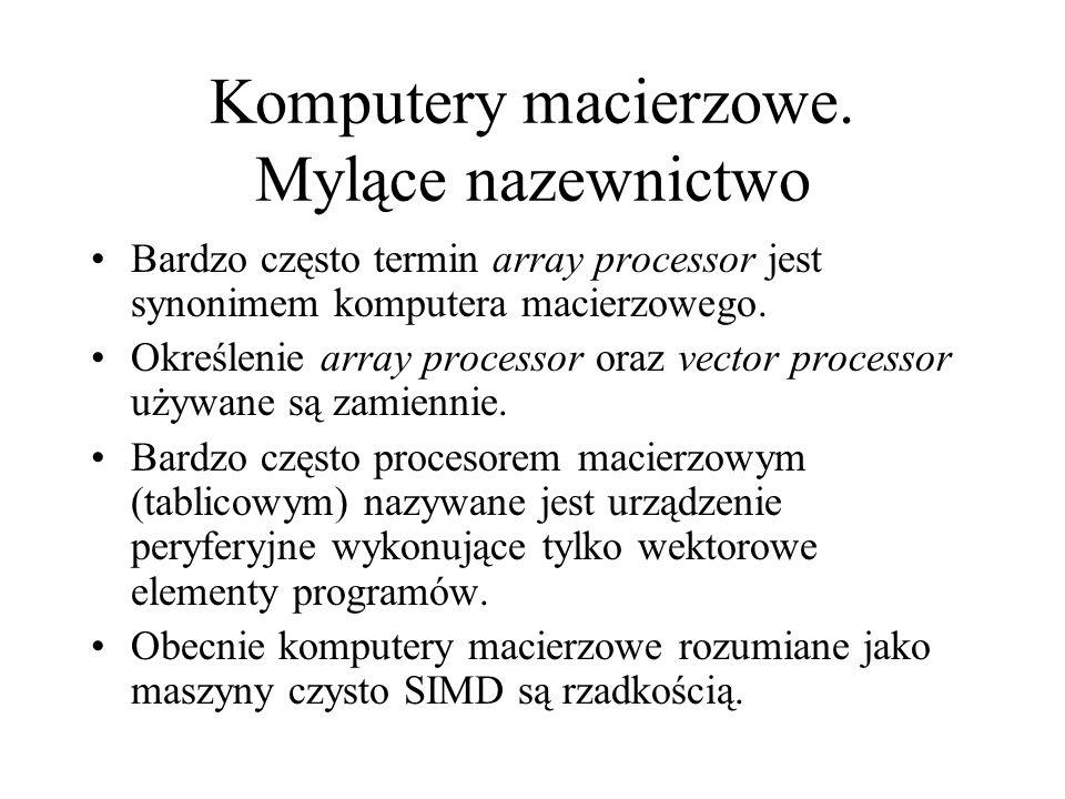 Komputery macierzowe.
