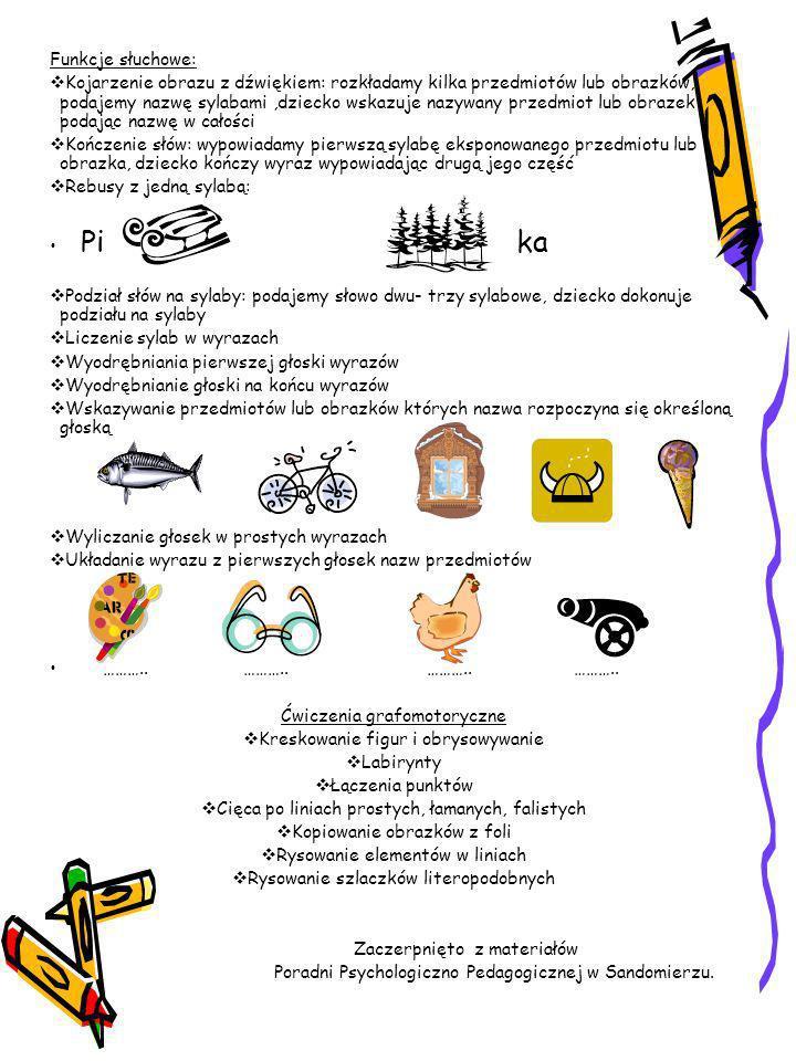 Propozycje ćwiczeń dla rodziców dzieci 6-letnich Jeśli twoje dziecko ma trudności w odczytywaniu nawet krótkich wyrazów, nie radzi sobie z rysowaniem
