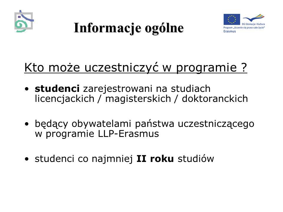 Informacje ogólne Kto może uczestniczyć w programie .