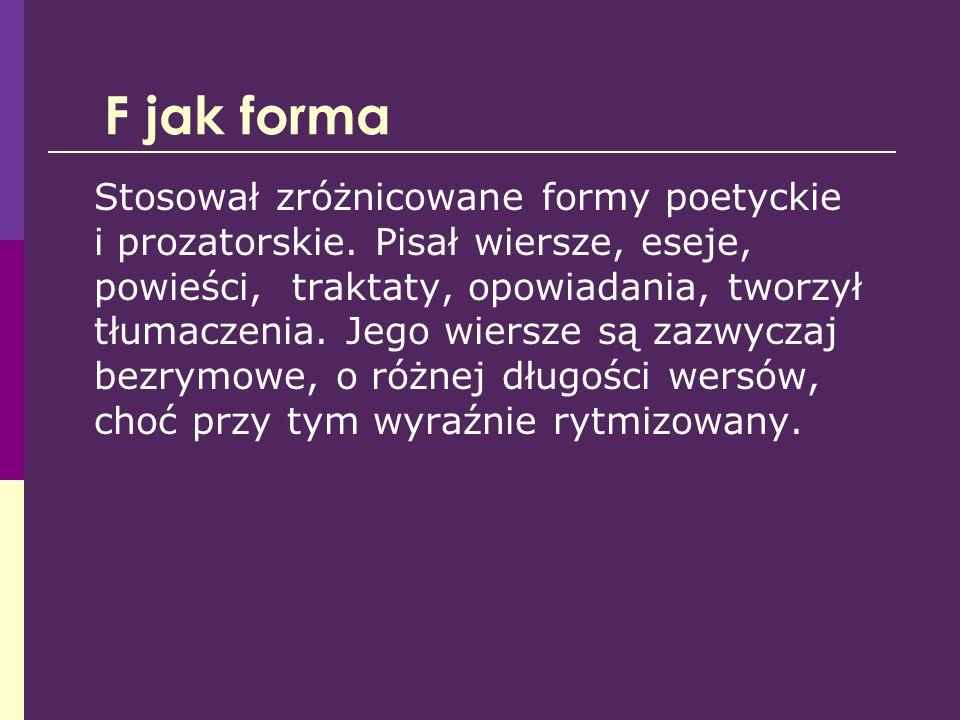 Z jak Zniewolony umysł Zniewolony umysł to studia o czterech pisarzach, którzy tworzyli w Polsce w latach 50-tych XX w.