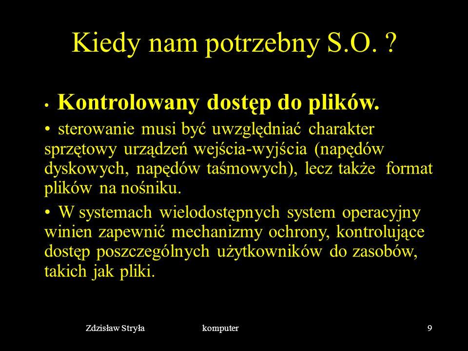 Zdzisław Stryła komputer10 Kiedy nam potrzebny S.O.
