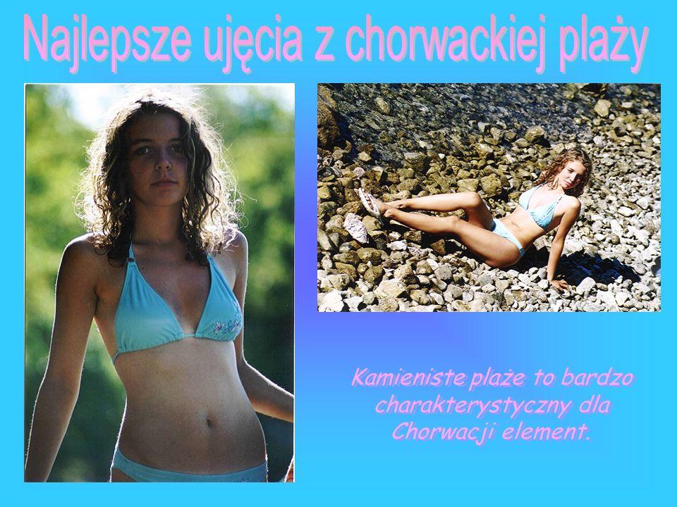 Kamieniste plaże to bardzo charakterystyczny dla Chorwacji element.