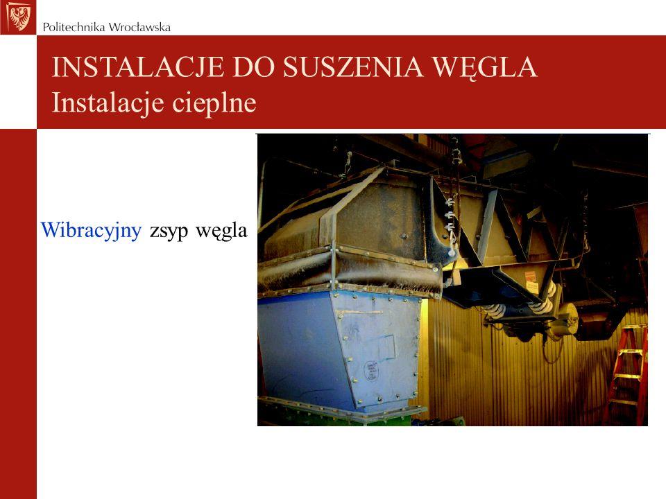 Wibracyjny zsyp węgla INSTALACJE DO SUSZENIA WĘGLA Instalacje cieplne