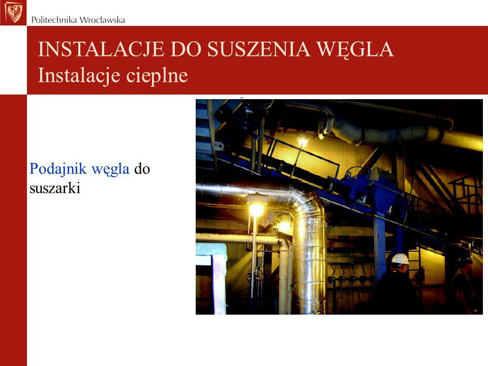 Podajnik węgla do suszarki INSTALACJE DO SUSZENIA WĘGLA Instalacje cieplne