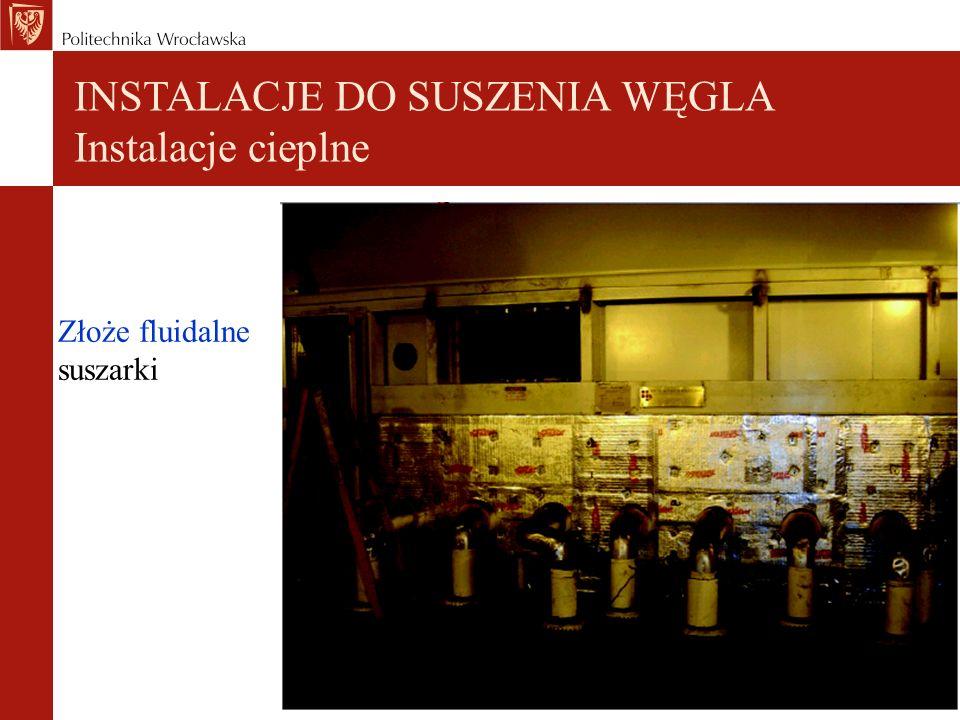 Złoże fluidalne suszarki INSTALACJE DO SUSZENIA WĘGLA Instalacje cieplne