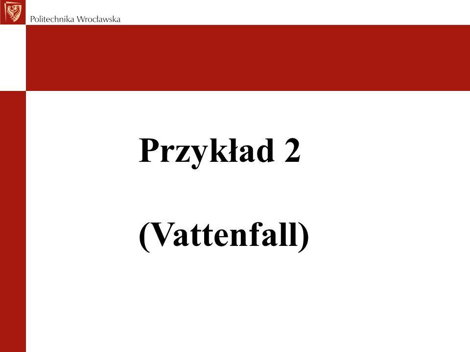 Przykład 2 (Vattenfall)