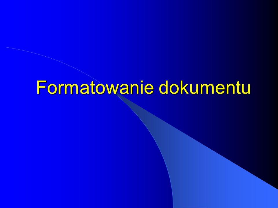 Jak zaznaczyć Dowolny fragment tekstu Przeciągnięcie myszką po wybranym fragmencie lub użycie odpowiednich klawiszy kierunkowych przy wciśniętym klawi