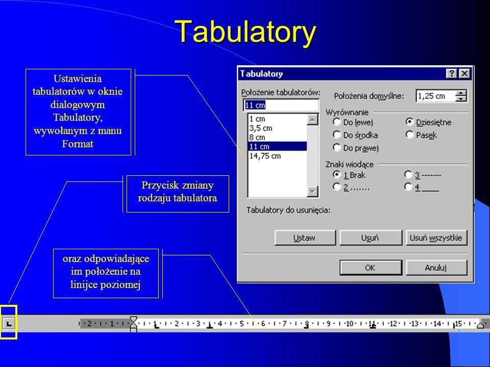 Pasek narzędzi Formatowanie Wybór czcionki Rozmiar Pogrubienie Kursywa Wyrównaj do lewej Wyśrodkuj Wyrównaj do prawej Wyjustuj Numerowanie Wypunktowan