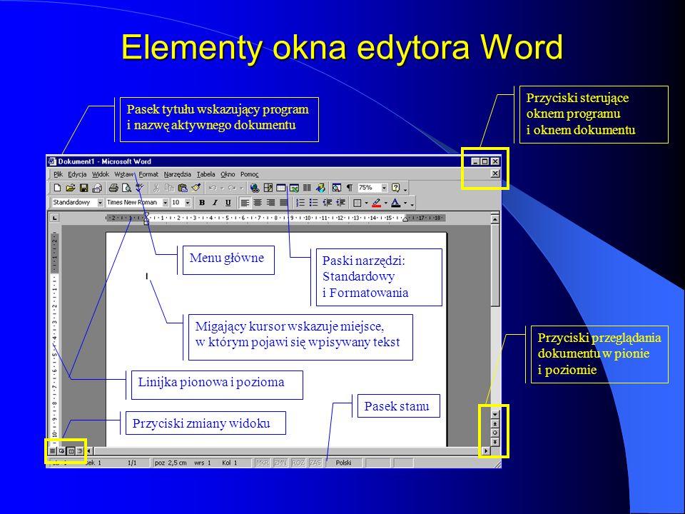 Okno Zapisz jako... Otwarcie listy rozwijalnej umożliwia wybór dysku i folderu, w którym zostanie zapisany dokument Pole nazwy Plik może zostać zapisa