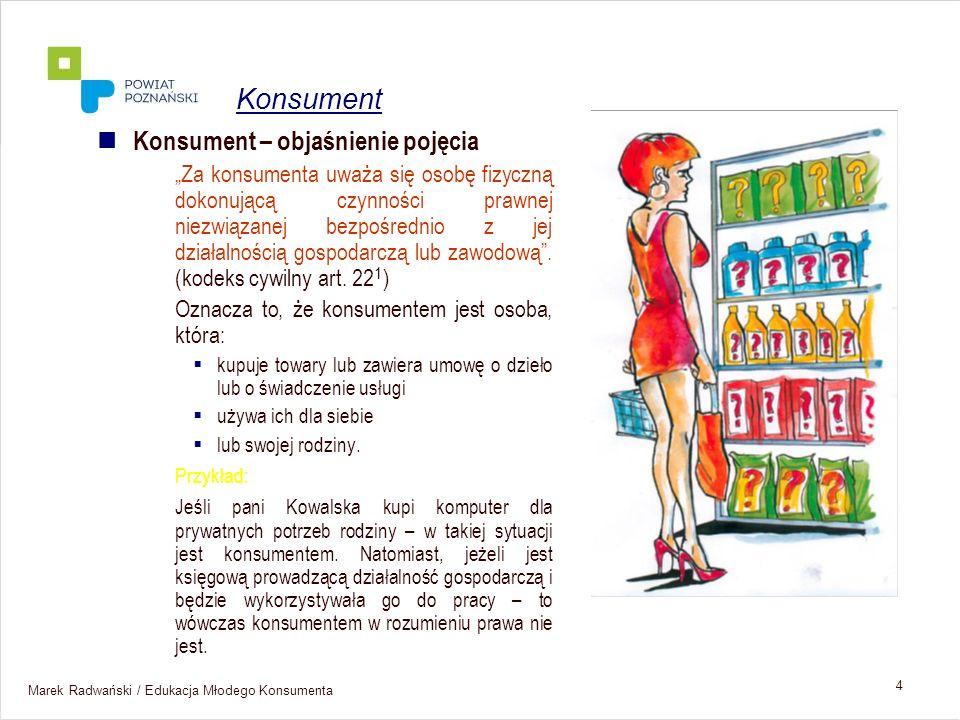 Marek Radwański / Edukacja Młodego Konsumenta 35 UOKiK IH UKE, URE, Itp..