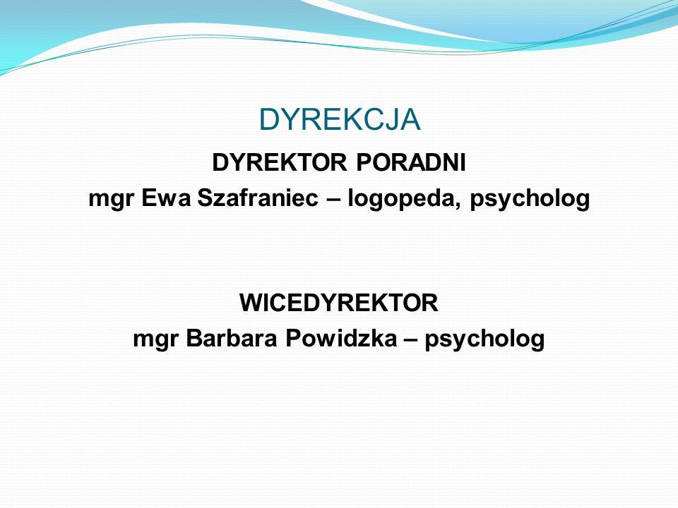 Kadra Poradnia zatrudnia specjalistów psychologów, pedagogów, logopedów oraz lekarza, którzy doskonalą swoje umiejętności poprzez studia podyplomowe,