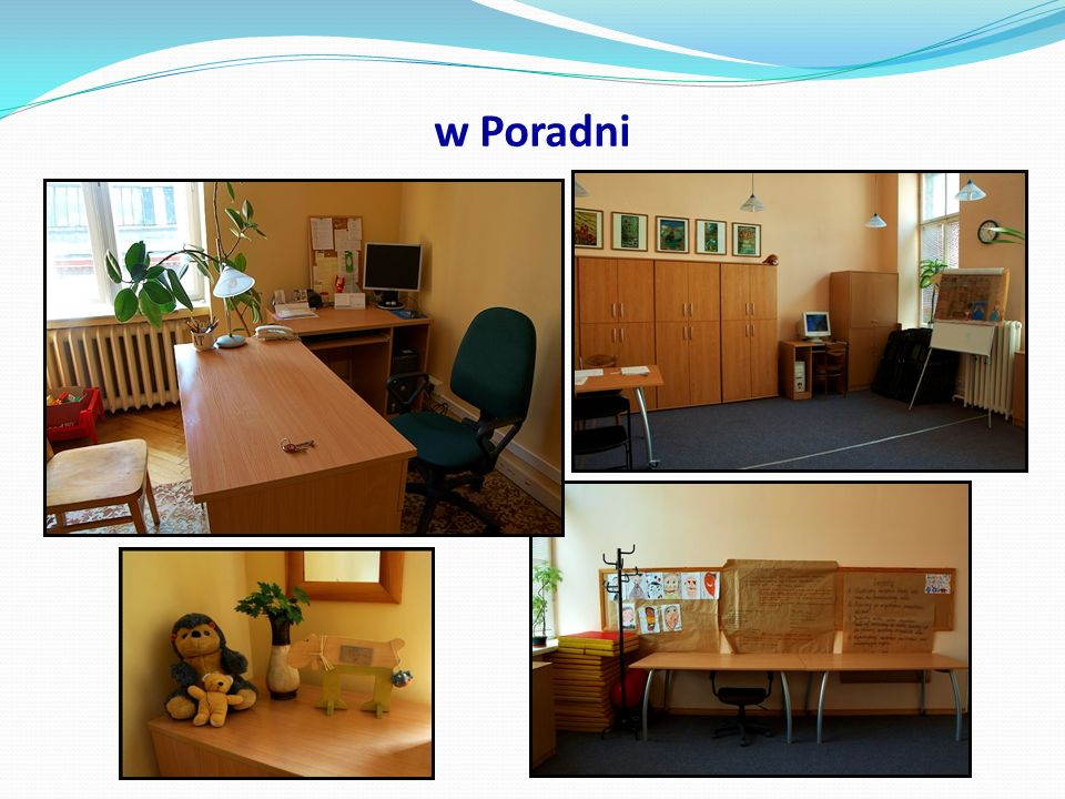 Pracownicy O czystość w naszej Poradni dbają: pani Elżbieta Felcenloben pani Bogusława Miarczyńska