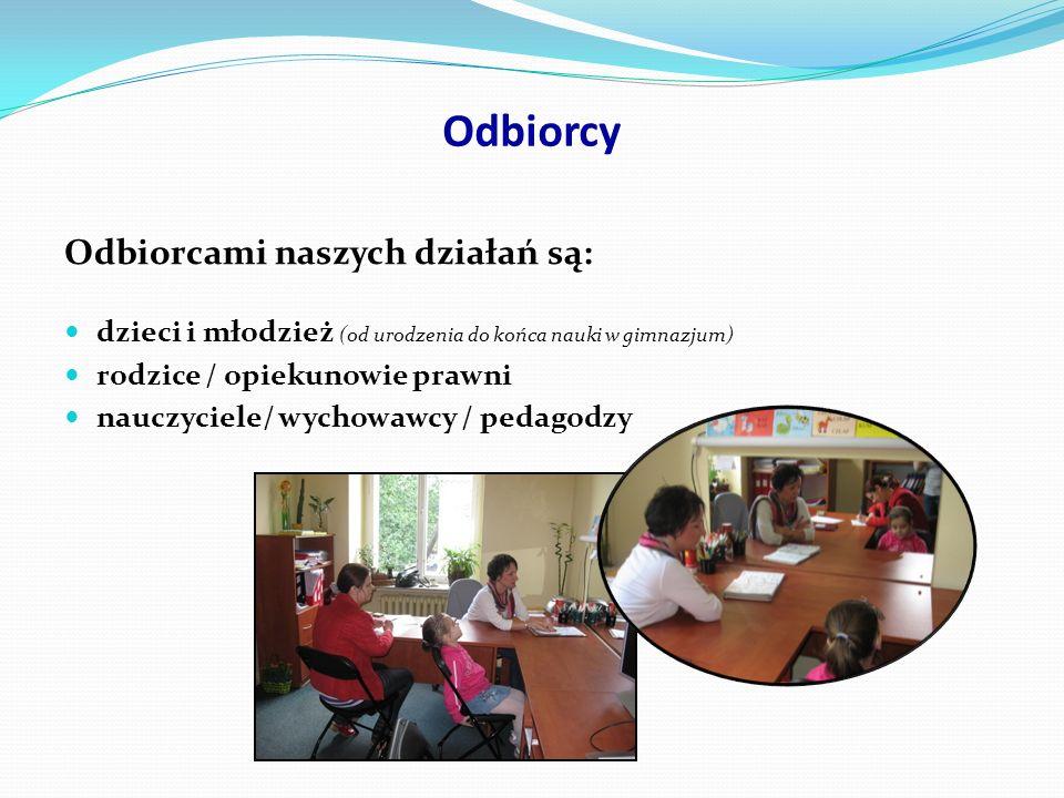 Rejon działania Sprawujemy opiekę psychologiczno-pedagogiczną : Numer / Nazwa przedszkola miejskie8, 12, 23, 41, 53, 54, 55, 56, 74, 98, 112, 133, 144