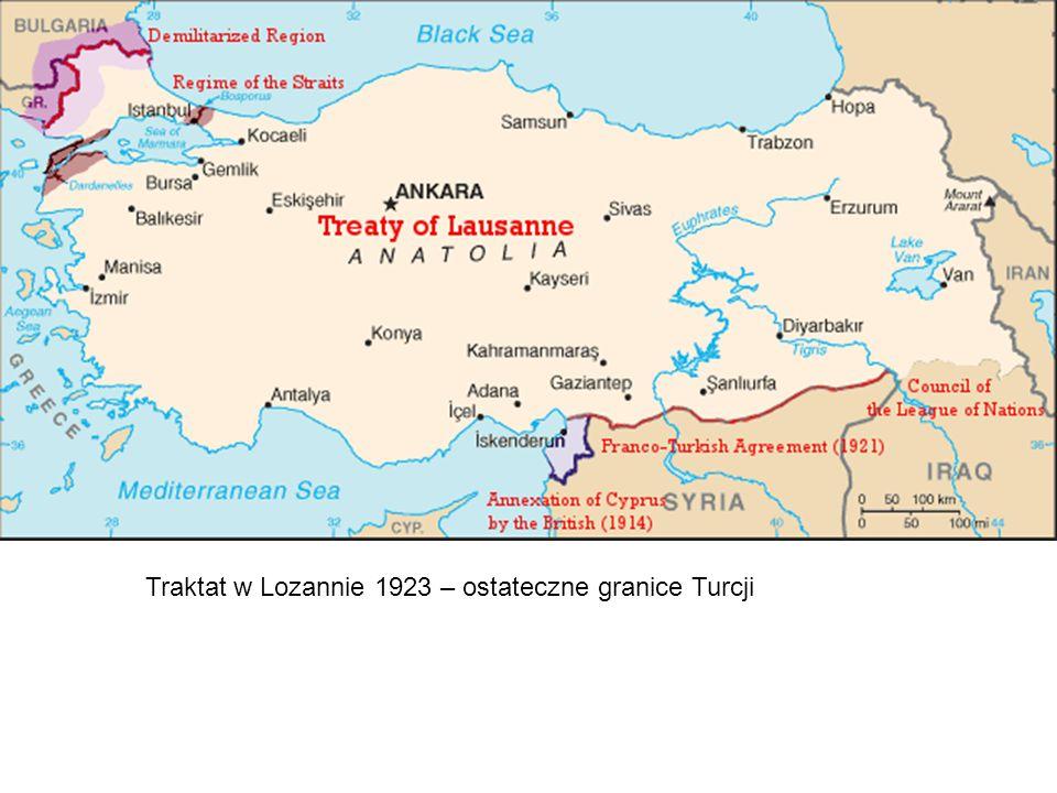 Traktat w Lozannie 1923 – ostateczne granice Turcji
