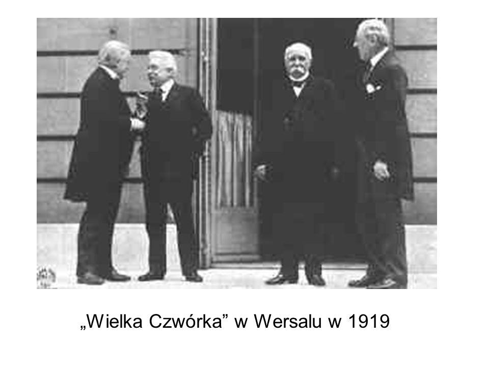 Clemenceau Ostateczne złamanie Niemiec Rozbiór ich terytorium Całkowite rozbrojenie Kontrybucje wojenne