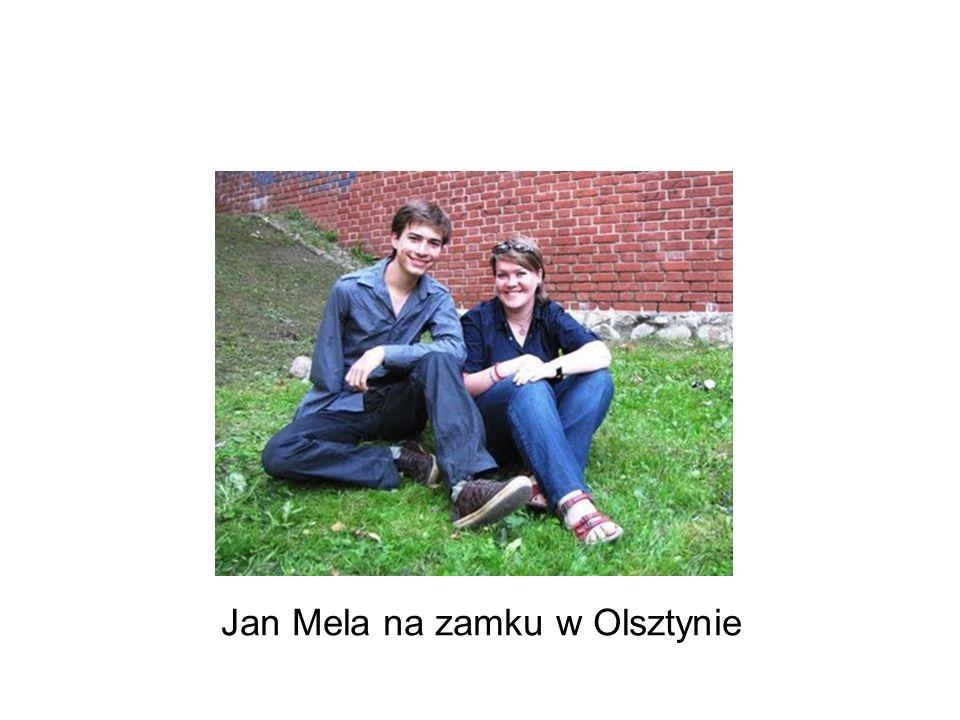Jan Mela na zamku w Olsztynie