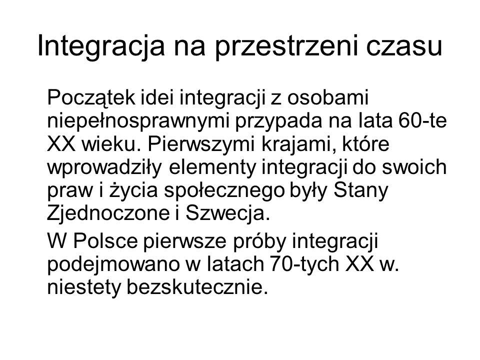 Integracja na przestrzeni czasu Dopiero w latach 90-tych XX w.