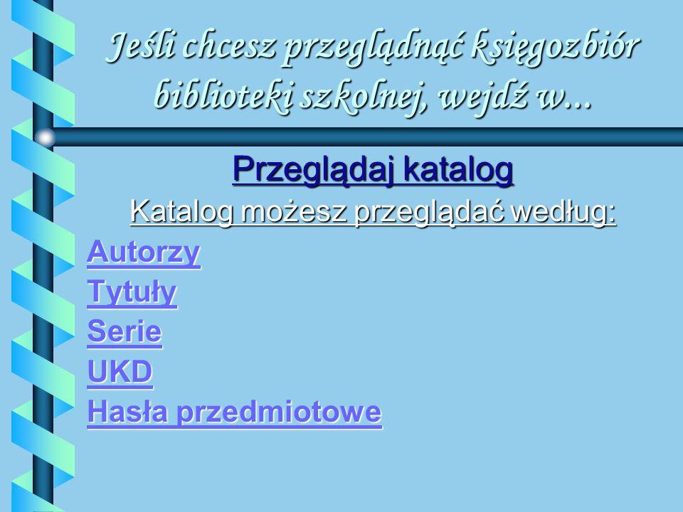 Mol Optivum e-book Przeglądaj katalog Przeglądaj katalog Wyszukiwanie Zestawienia Profil użytkownika Profil użytkownika Pomoc STRONA GŁÓWNA ZAWIERA: