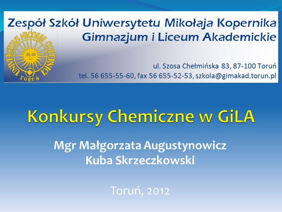 Etap III (zawody finałowe) - dwudniowe zawody: pisemne i laboratoryjne organizowane są przez Komitet Główny w Warszawie.