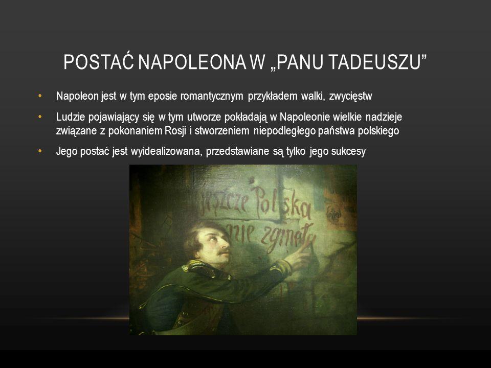 Napoleon jest w tym eposie romantycznym przykładem walki, zwycięstw Ludzie pojawiający się w tym utworze pokładają w Napoleonie wielkie nadzieje związ