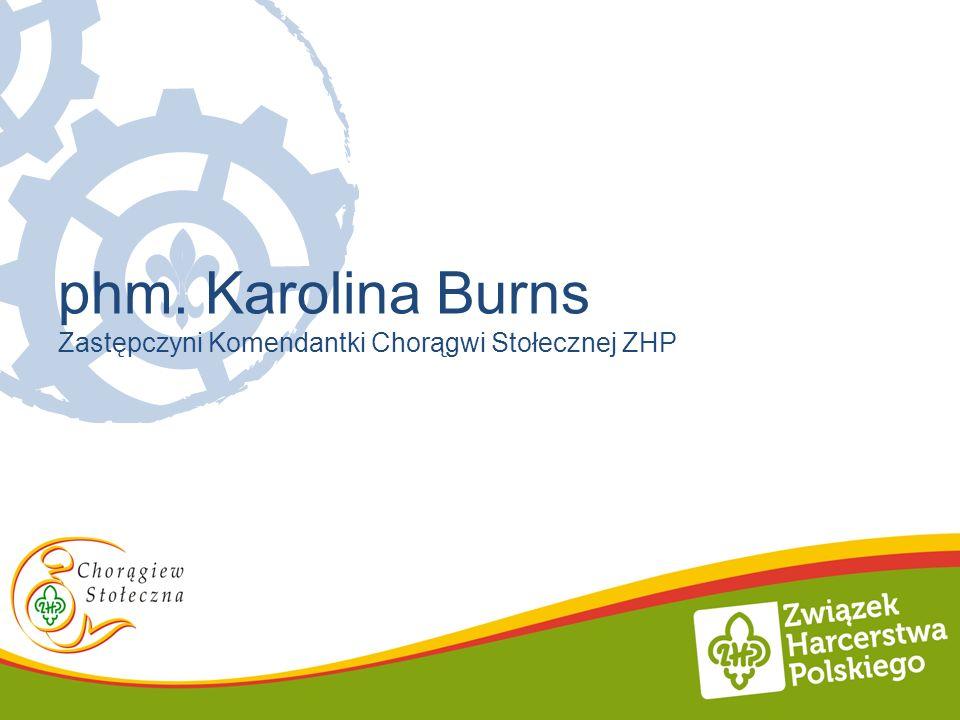 phm. Karolina Burns Zastępczyni Komendantki Chorągwi Stołecznej ZHP